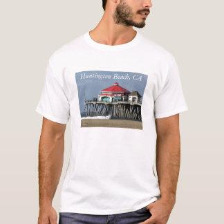 Camiseta Cais de Huntington Beach - t-shirt da opinião do