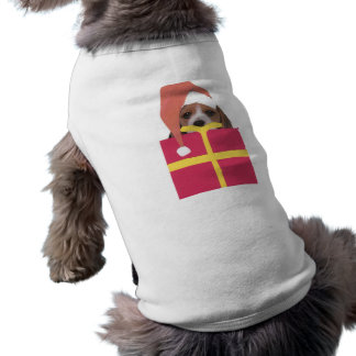 Camiseta Caixa de presente do chapéu do papai noel do lebre