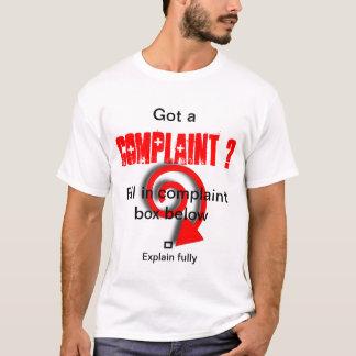Camiseta Caixa de queixa