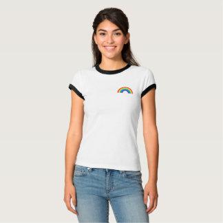 Camiseta Caixa deixada bolso do arco-íris