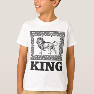 Camiseta caixa do leão do rei