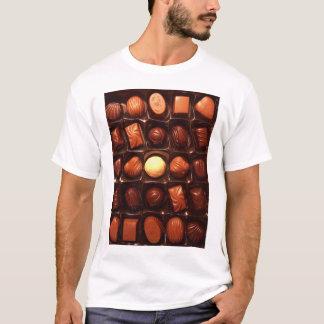 Camiseta Caixa do t-shirt dos chocolates