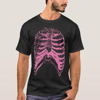 Camiseta Caixa torácica cor-de-rosa