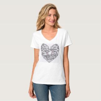 Camiseta Caixa torácica dada forma coração/afundar ou nadar