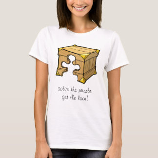 Camiseta Caixa w/text do quebra-cabeça