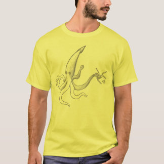 Camiseta calamar do lápis