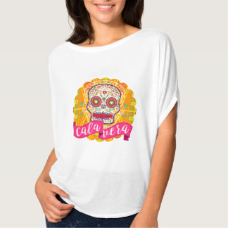 Camiseta Calavera. Dia do crânio mexicano inoperante do
