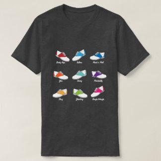 Camiseta Calçados de sela na cor com tipos da dança do