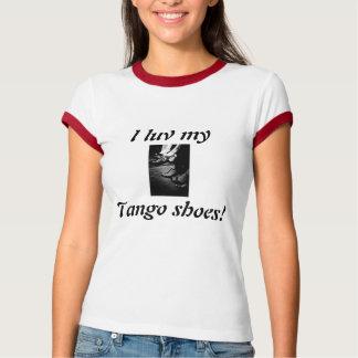 Camiseta calçados do tango, luv meu, calçados de I do
