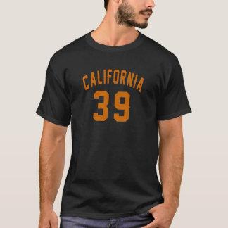 Camiseta Califórnia 39 designs do aniversário