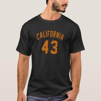 Camiseta Califórnia 43 designs do aniversário