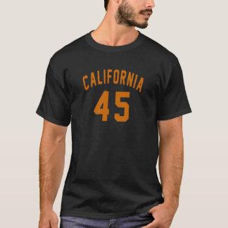 Camiseta Califórnia 45 designs do aniversário