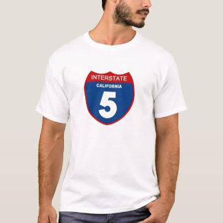 Camiseta Califórnia 5 de um estado a outro