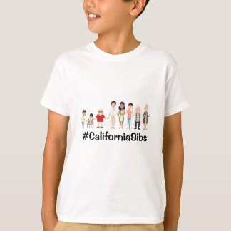 Camiseta CaliforniaSibs caçoa o tshirt