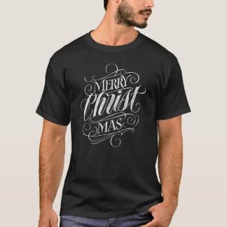 Camiseta Caligrafia religiosa do quadro do Natal do cristo