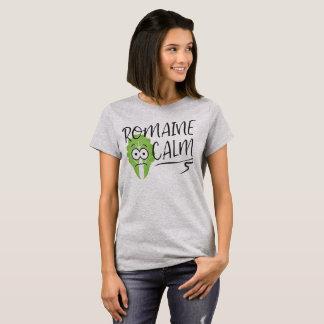 Camiseta Calma da alface romana com alface ilustrada