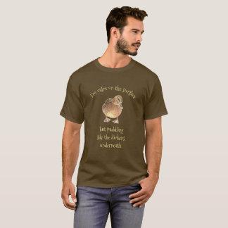 Camiseta Calma nas citações de superfície do pato do