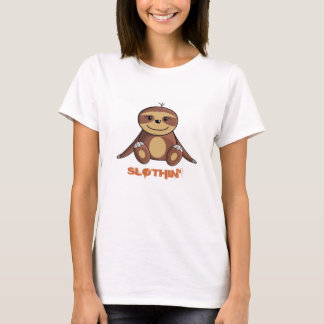 Camiseta Cama da preguiça/mulheres Lounging do t-shirt