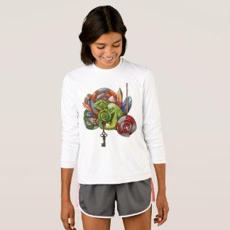 Camiseta camaleão e cristais
