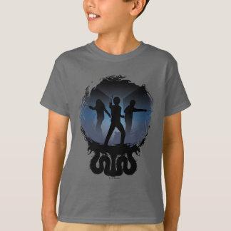 Camiseta Câmara de Harry Potter   da silhueta dos segredos