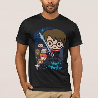 Camiseta Câmara de Harry Potter dos desenhos animados dos