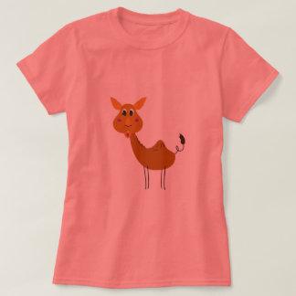 Camiseta Camelo bonito pintado à mão/Tshirt