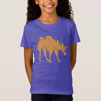 Camiseta Camelo com duas corcundas e mistura da cabeça do