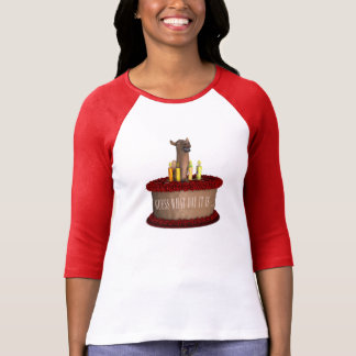 Camiseta Camelo engraçado do feliz aniversario