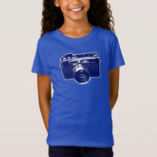 Camiseta Câmera azul do pop art