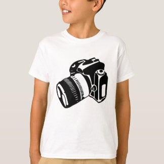 Camiseta Câmera de SLR - T dos miúdos (luz)