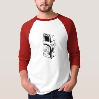Camiseta câmera do vintage