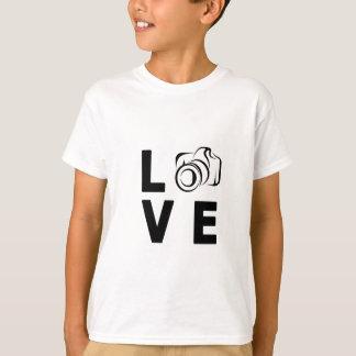 Camiseta câmera e amor