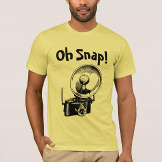 Camiseta Câmera instantânea do vintage do humor oh