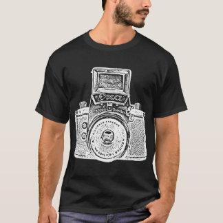 Camiseta Câmera oriental gigante - efeito negativo branco