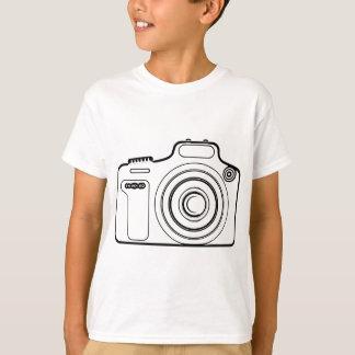 Camiseta Câmera preto e branco