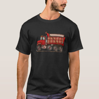 Camiseta Camião basculante bonito do cascalho