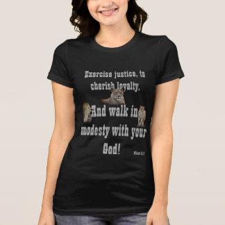 Camiseta Caminhada com seu deus! T-shirt básico