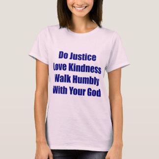 Camiseta Caminhada humilde com seu T do deus