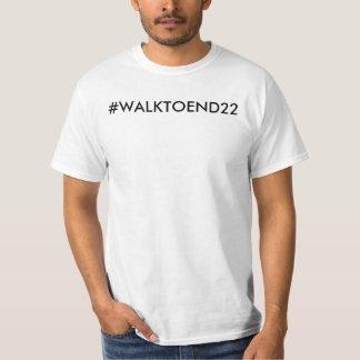 Camiseta Caminhada para terminar o t-shirt 22