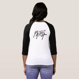 Camiseta Caminhada pela fé não pela vista