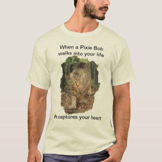 Camiseta Caminhadas de gato de Bob do duende em sua