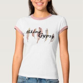 Camiseta Caminhando o cigano empluma-se o T da campainha
