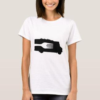 Camiseta Caminhão da comida: Lado/forquilha (preto/branco)