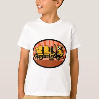 Camiseta caminhão do líquido de limpeza da vassoura de rua