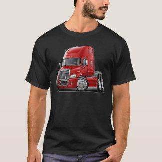 Camiseta Caminhão do vermelho de Freightliner Cascadia