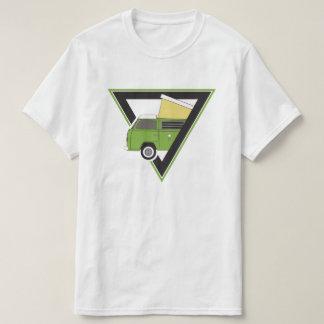 Camiseta camionete de campista verde clássica do triângulo