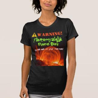 Camiseta Camisa: Aviso! Alargamento da fibromialgia!