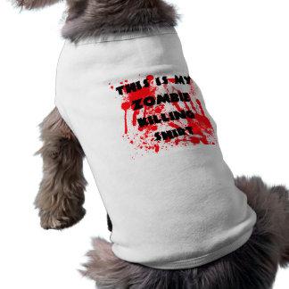 Camiseta Camisa da matança do zombi do filhote de cachorro