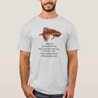 """Camiseta """"Camisa da truta cruel"""" com a flâmula marrom de"""