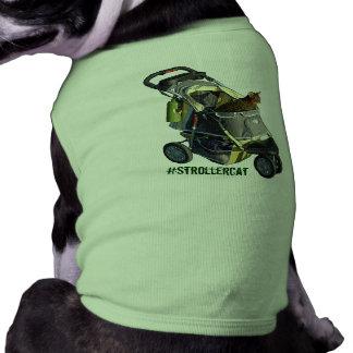 Camiseta Camisa do animal de estimação de Strollercat